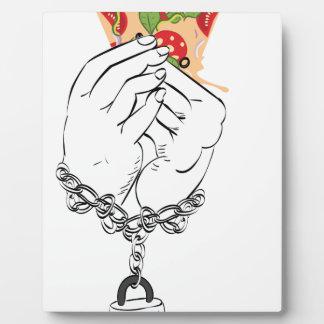 Pizza savoureuse de bande dessinée et Hands2 Plaques D'affichage