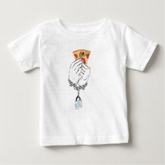 Pizza savoureuse de bande dessinée et Hands2 T-shirt Pour Bébé