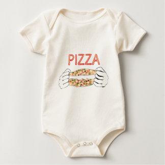 Pizza savoureuse de bande dessinée et Hands3 Body