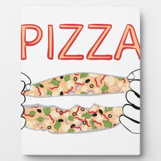 Pizza savoureuse de bande dessinée et Hands3 Plaque D'affichage
