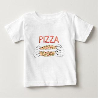 Pizza savoureuse de bande dessinée et Hands3 T-shirt Pour Bébé