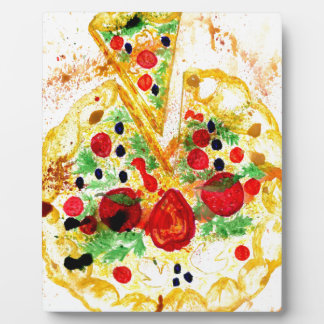 Pizza savoureuse impressions sur plaque