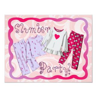PJ d'invitation de soirée pyjamas, roses et Carton D'invitation 10,79 Cm X 13,97 Cm