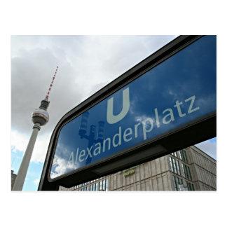 Place d'Alexander métro et tour de télévision Cartes Postales