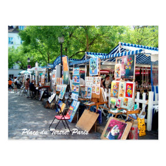 Place du Tertre, Paris Carte Postale