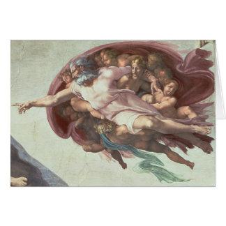 Plafond de chapelle de Sistine Carte De Vœux
