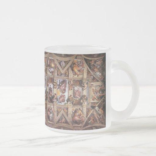 Plafond de chapelle de Sistine de Michaelangelo Tasse À Café