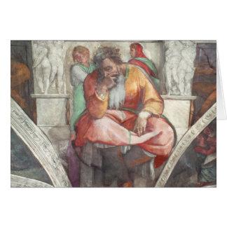 Plafond de chapelle de Sistine : Le prophète Carte De Vœux