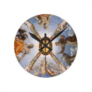 Plafond italien de chapelle d'art de Bronzino Horloge Ronde