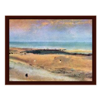 Plage à marée basse par Edgar Degas Carte Postale