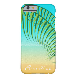 Plage abandonnée par palmettes tropicales coque barely there iPhone 6