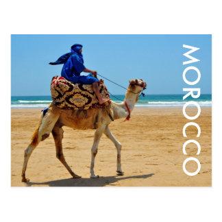 plage arabe de bord de la mer de chameau de tour carte postale