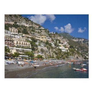 Plage chez Positano, Campanie, Italie Cartes Postales