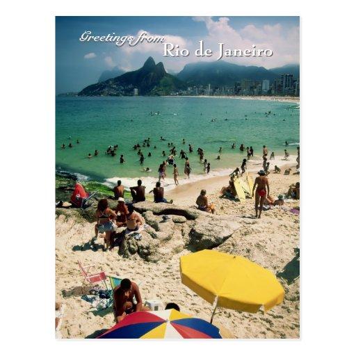 """""""Plage d'Arpoador, carte postale de Rio de Janeiro"""