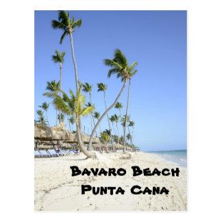 Plage de Bavaro sur l'île de Punta Cana Cartes Postales