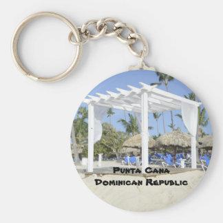 Plage de Bavaro sur l'île de Punta Cana Porte-clé Rond