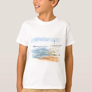 Plage de Blackpool avec la tour de Blackpool T-shirt