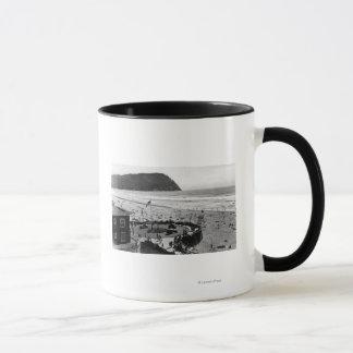 Plage de bord de la mer et photographie de mugs