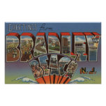 Plage de Bradley, New Jersey - grandes scènes de l Posters