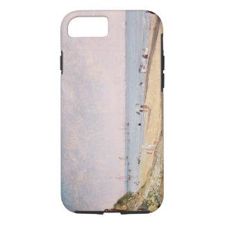 Plage de Brighton (huile sur la toile) Coque iPhone 7