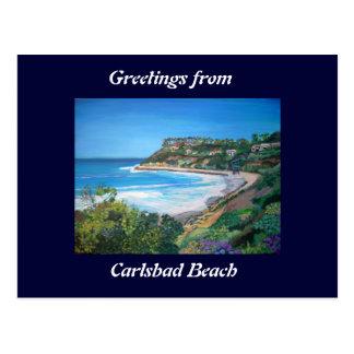 Plage de Carlsbad - carte postale