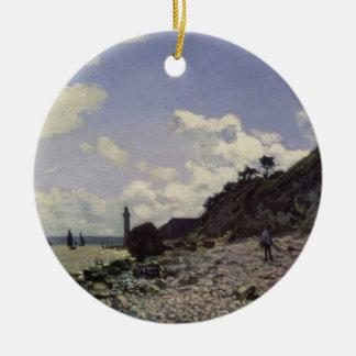 Plage de Claude Monet | chez Honfleur, 1864 Ornement Rond En Céramique