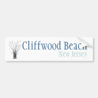 Plage de Cliffwood, New Jersey Autocollant De Voiture