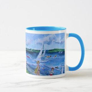 plage de club d'université mug