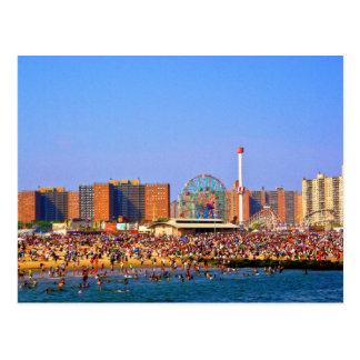Plage de Coney Island - carte postale de NYC