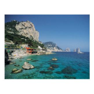 Plage de côte de la mer Méditerranée de l'Italie Cartes Postales