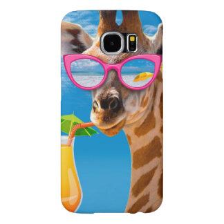 Plage de girafe - girafe drôle
