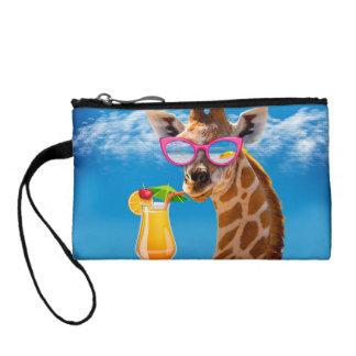 Plage de girafe - girafe drôle bourse