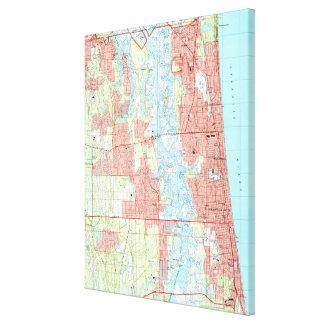Plage de Jacksonville et carte atlantique de la Toile