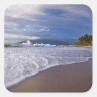 Plage de Kihei, Maui, Hawaï, Etats-Unis Sticker Carré