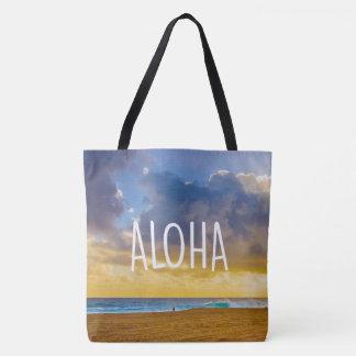 Plage de Lumahai, Kauai, Aloha sac hawaïen de