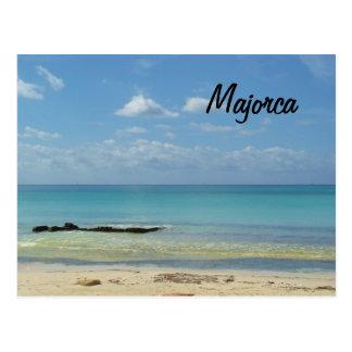 Plage de Majorca - carte postale
