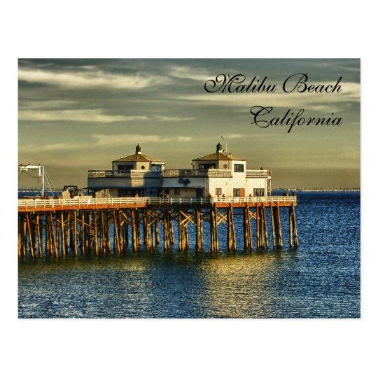 Plage De Malibu, La Californie Carte Postale