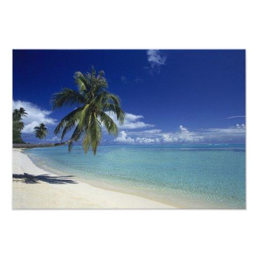 Plage de Matira sur l'île de Bora Bora, 2 Photos Sur Toile