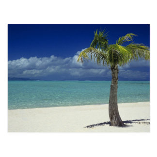 Plage de Matira sur l'île de Bora Bora, 2 Carte Postale