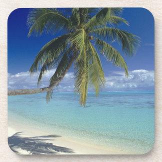 Plage de Matira sur l'île de Bora Bora, société Sous-bock