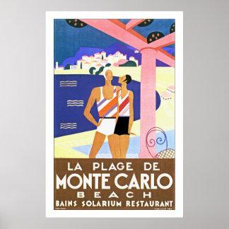 Plage De Monte Carlo de La Posters