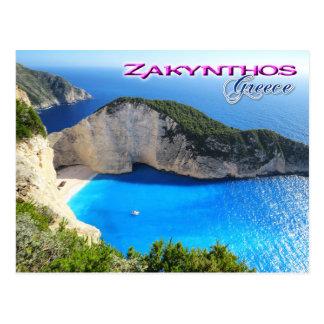 Plage de Navagio, Zakynthos, Grèce Carte Postale