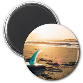 Plage de panneau de surf aimant
