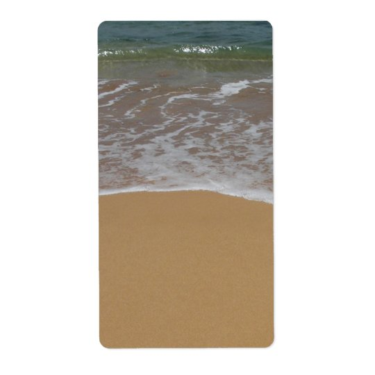 plage de sable de mariage de destination étiquettes d'expédition