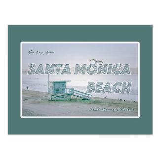 Plage de Santa Monica, carte postale de la