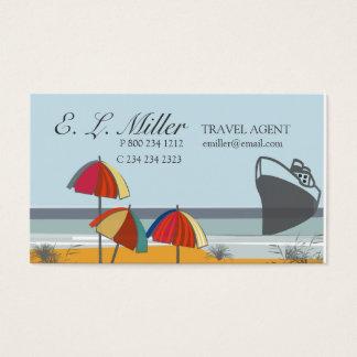 Plage d'été de vacances d'agent de voyage cartes de visite