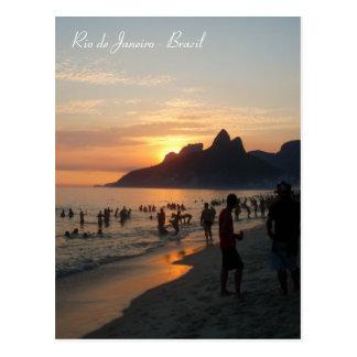Plage d'Ipanema, Rio de Janeiro, Brésil Carte Postale