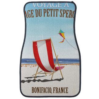 Plage du Petit Sperone, poster vintage de la Tapis De Voiture