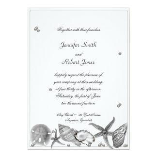 Plage fascinante dans l'invitation de noces carton d'invitation  12,7 cm x 17,78 cm