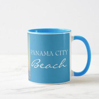 Plage FL - tasse de Panamá City de coucher du